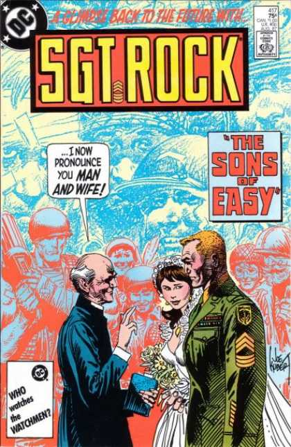 Our Army at War 417 - Sgt Rock - The Sons Of Easy - A Glimpse Back To The Future With - Who Watches The Watchmen - Dc
