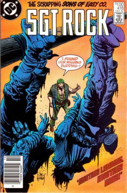 Our Army at War 418 - Dc Comics - Sgt Rock - Sons Of Easy Co - Military - Landing