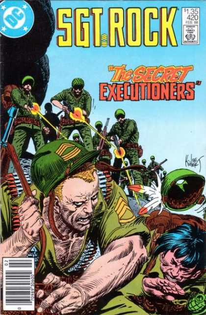 Our Army at War 420 - Joe Kubert - Shooting Guns - Secret - Executioners - Soldiers