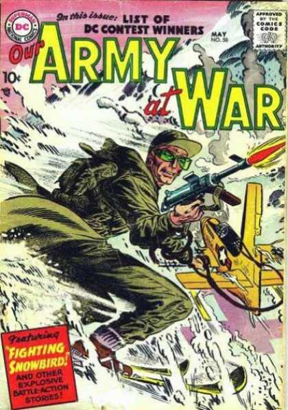 Our Army at War 58 - Snow - Dc - Contest Winners - Battle Action - Stories - Joe Kubert
