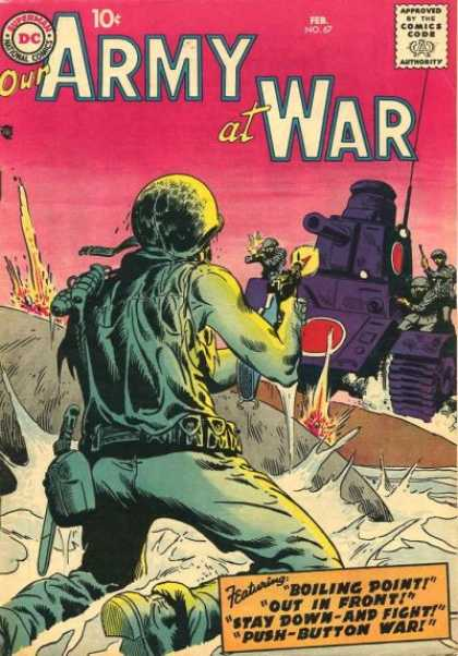 Our Army at War 67 - Tank - Soldier - Cantine - Fighting - Last Stand - Joe Kubert