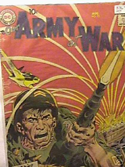Our Army at War 73 - Soldier - Gun - Airplane - War - Batllefield - Joe Kubert
