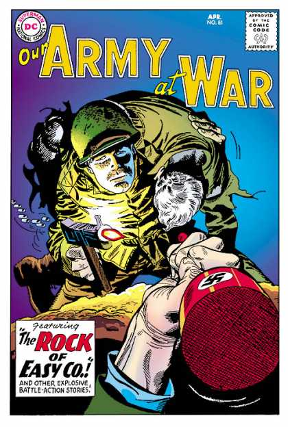 Our Army at War 81 - Dc Comics - The Rock Of Easy Co - Gun - Nazi - Helmet