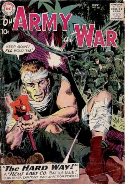 Our Army at War 88 - Jungle - Army - Dc - Shooting - The Hard Way - Joe Kubert