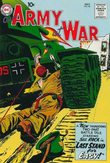 Our Army at War 96 - Tank - Building - Panzer - Gun - Dc Comics
