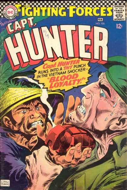 Our Fighting Forces 105 - Capt Hunter - Viet Nam - Viet Cong - Grenade - Blood Loyalty - Joe Kubert