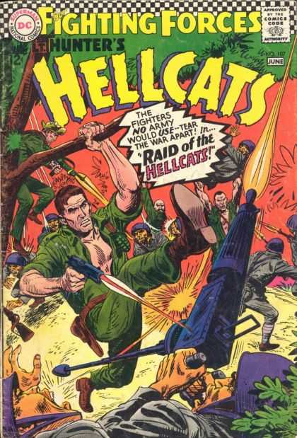 Our Fighting Forces 107 - Hunters Hellcats - Guns - Soliders - Jungle - Fighting