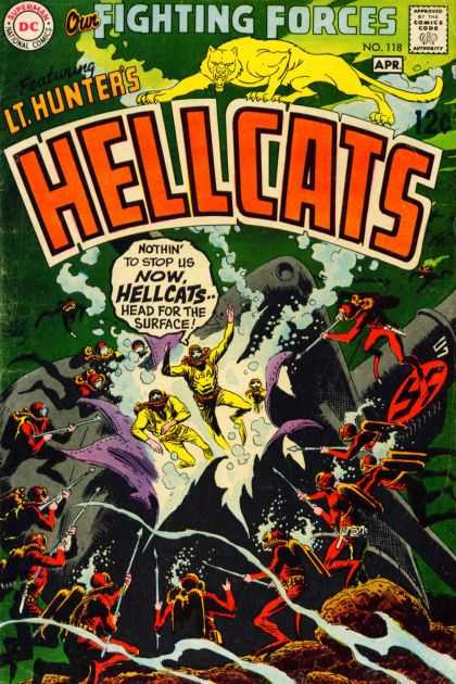 Our Fighting Forces 118 - Hellcats - Wildcat - Lthunter - Scuba Diving - Harpoon - Joe Kubert
