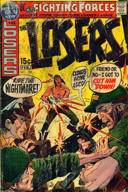 Our Fighting Forces 129 - Action - Battle - Indian - Army - Fear - Joe Kubert