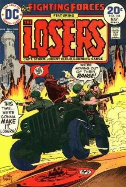 Our Fighting Forces 148 - The Line Of Super-stars - Dc - The Losers - Captstorm - Johnny Cloud - Joe Kubert