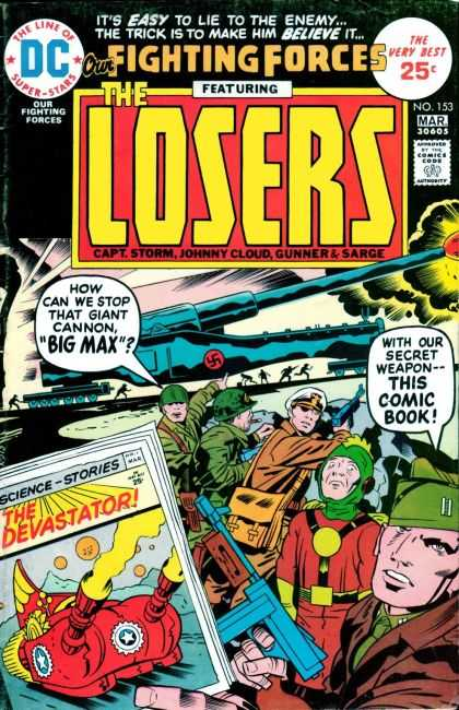 Our Fighting Forces 153 - Nazi - Tanks - War - Trenches - Guns - Jack Kirby