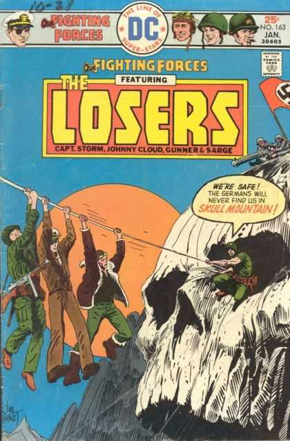 Our Fighting Forces 163 - Soldier - Skeleton Cave - The Losers - Nazy - Helmet - Joe Kubert