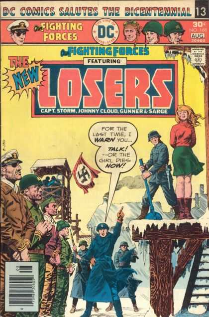 Our Fighting Forces 168 - Losers - Capt Storm - Johnny Cloud - Gunner - Sarge - Luis Dominguez
