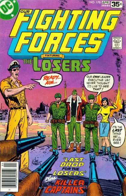 Our Fighting Forces 178 - Dc - The Losers - Killer Captains - Executing - Fire - Joe Kubert