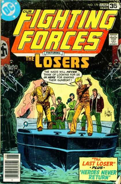Our Fighting Forces 179 - Our Fighting Forces - Number 179 June - The Last Loser - Heroes Never Return - People - Joe Kubert