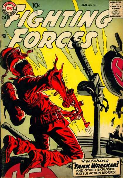 Our Fighting Forces 29 - Fire - Explosion - Bomb - Army - Granade - Joe Kubert