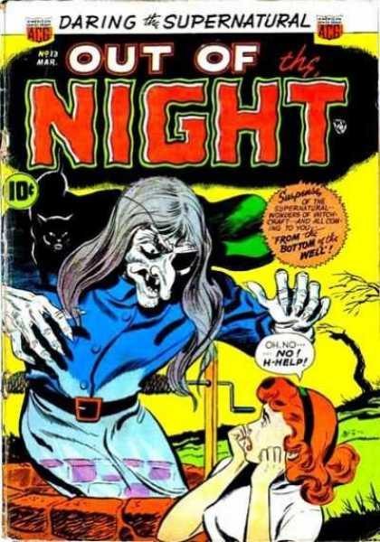 Out of the Night 13 - Witchcraft - Black Cat - Well - Eye Patch - Scared Girl