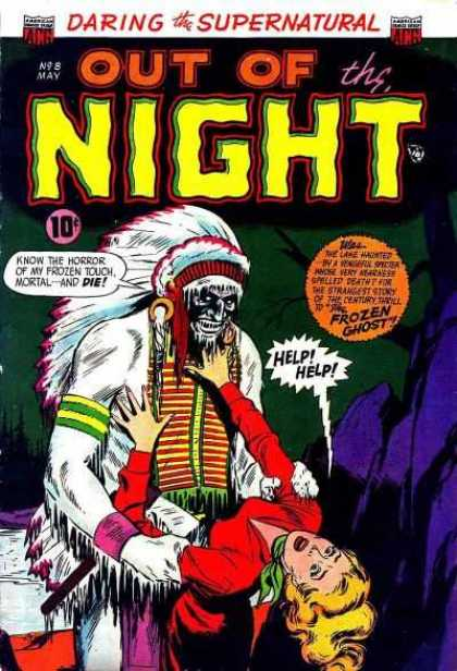 Out of the Night 8 - May - 10 Cents - Speech Bubble - Blonde - Indian Headdress