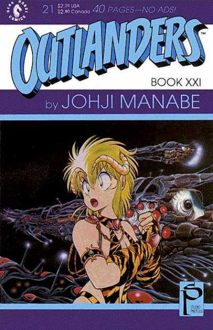 Outlanders 21 - Johji Manabe - Golden Horns - Space Ship - Red Gems - Outer Space