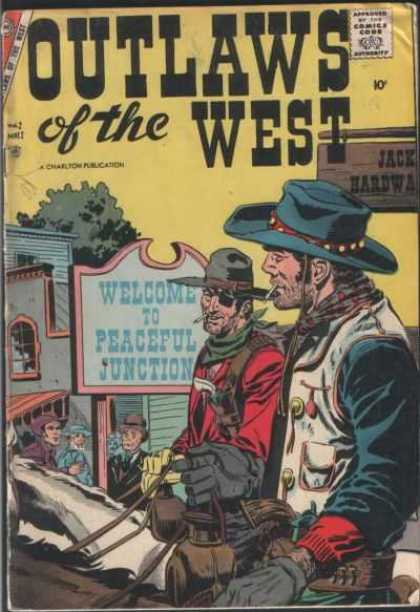 Outlaws of the West 12 - Cowboys - Old West - Comic - Bank Robbers - Gunfight