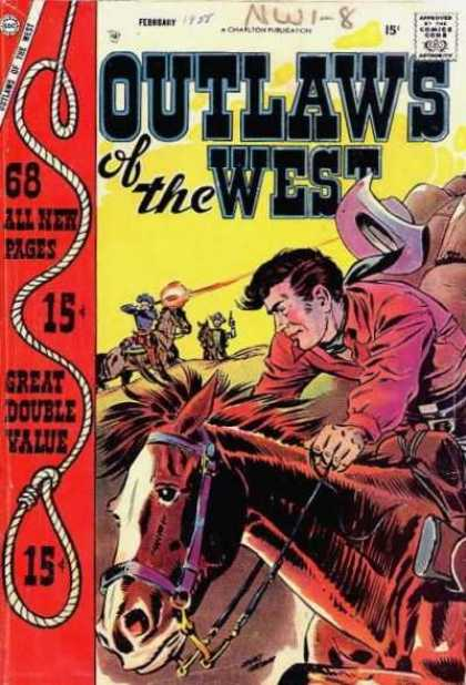 Outlaws of the West 14 - Horse - Rope - Gun - Hat - Bridle
