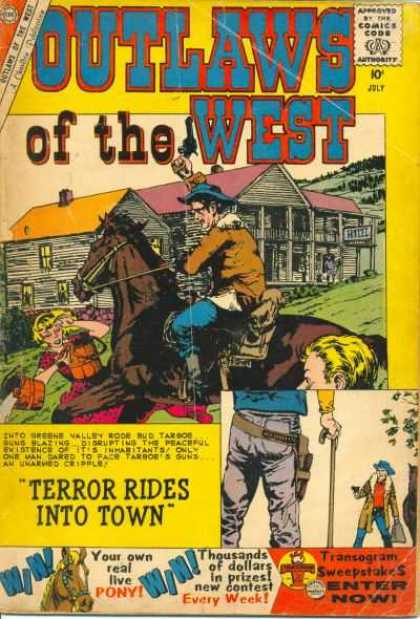 Outlaws of the West 26 - Cowboy - Pony - Rescue - Terror - Gun