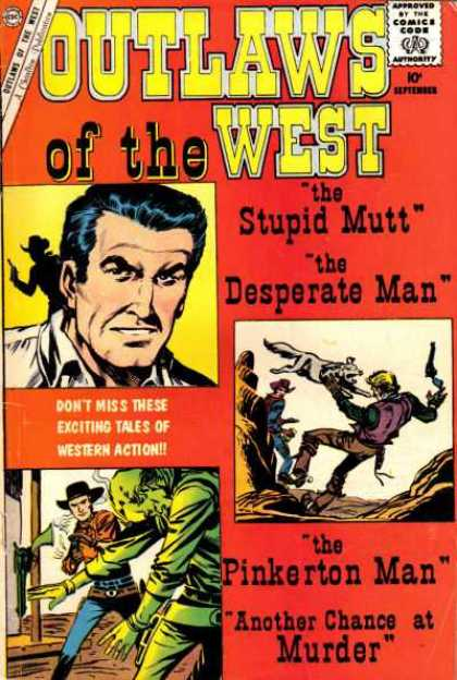 Outlaws of the West 27 - Approved By The Comics Code Authority - Cap - The Stupit Mutt - The Desperate Man - Gun
