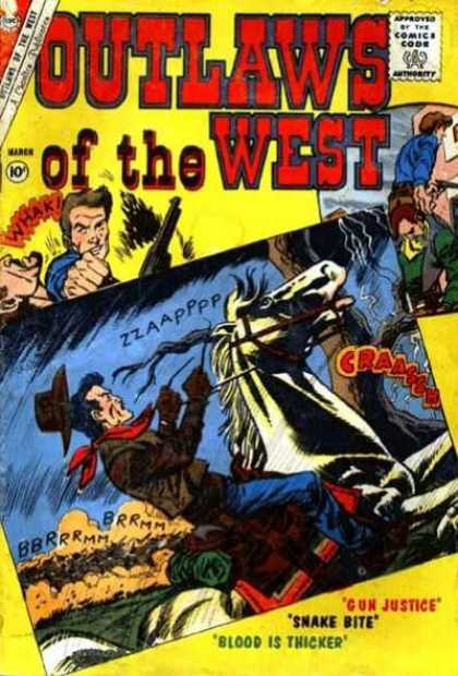 Outlaws of the West 30 - Outlaws Of The West - Cowboys - Fistfight - Horse - Lightning