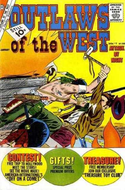 Outlaws of the West 35 - Depiction Of Native American - Cowboy - Settler - Contest - Gifts