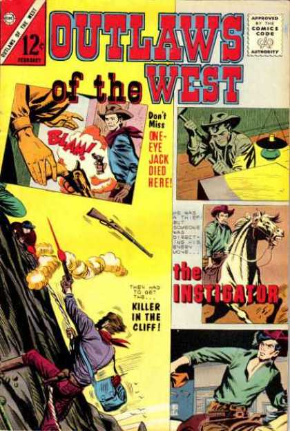 Outlaws of the West 41 - Lamp - Guns - Horse - Cowboy - Hats