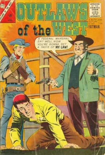 Outlaws of the West 42 - Comics Code - Fatman - Cowboys - Guns - Federal Marshal