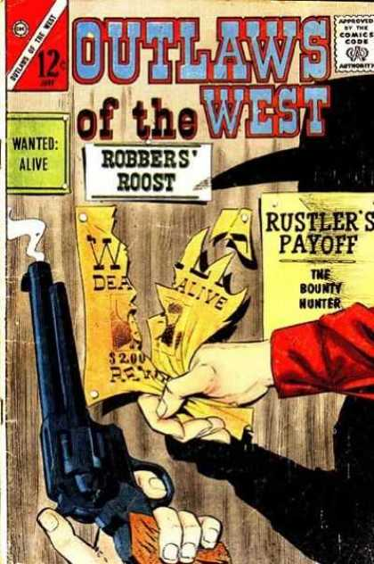 Outlaws of the West 43 - Robbers Roost - Smoking Gun - Ripped Wanted Poster - Rustlers Payoff - Wanted Alive