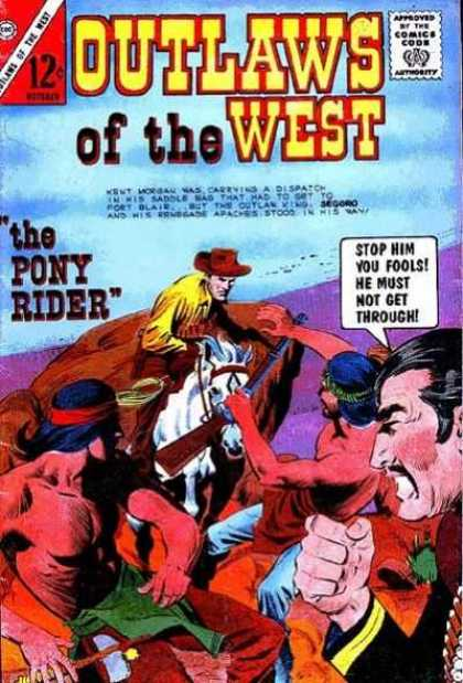 Outlaws of the West 50 - The Pony Rider - Stop Him You Fools - He Must Not Get Through - Riding The Horse - Attack