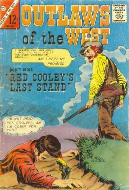Outlaws of the West 52 - Comic - Western - Red Cooley - Shotgun - Pistol