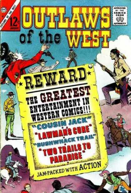 Outlaws of the West 57 - Indians - Guns And Ripples - Reward - Cousin Jack - Two Trails To Paradise