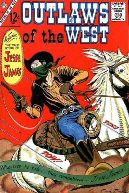 Outlaws of the West 58 - Outlaws - West - Jesse James - Horse - Red