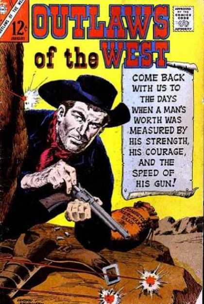 Outlaws of the West 62 - Gun - Western - Bank Sack - Cowboy - Tree