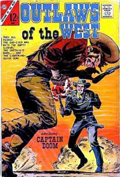 Outlaws of the West 64 - Cowboy - Captain Doom - 12 Cents - Gun - Weapon