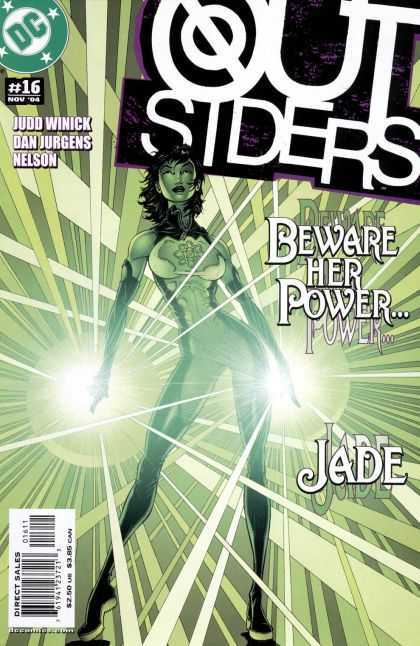 Outsiders 16 - Beware Her Power - Jade - Green Light - Green Lady - Nov 04 - Brian Bolland