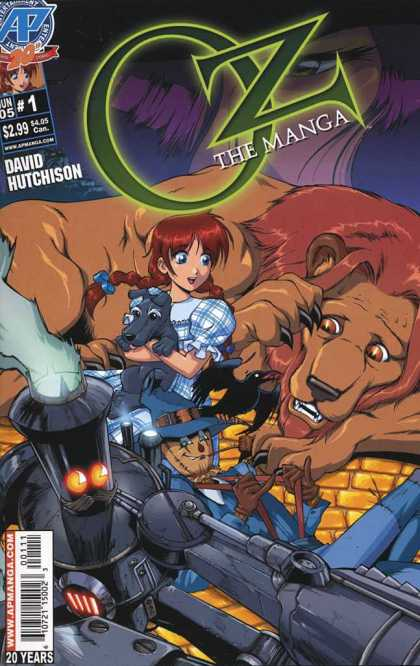 Oz the Manga 1 - Dorothy - Toto - Cowardly Lion - Yellowbrick Road - Scarecrow