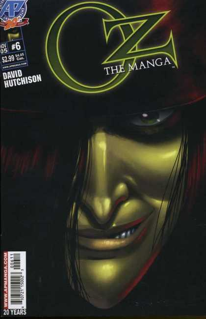 Oz the Manga 6 - David Hutchison - Face - Green - Eye - Pointy Nose