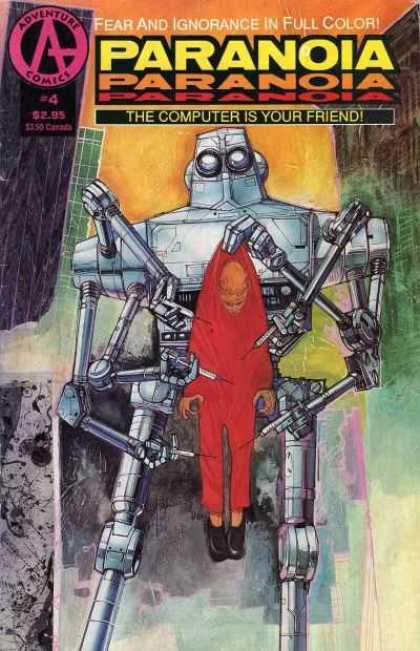 Paranoia 4 - Adventure Comics - Robot - Man - Fear And Ignorance - Computer Is Your Friend