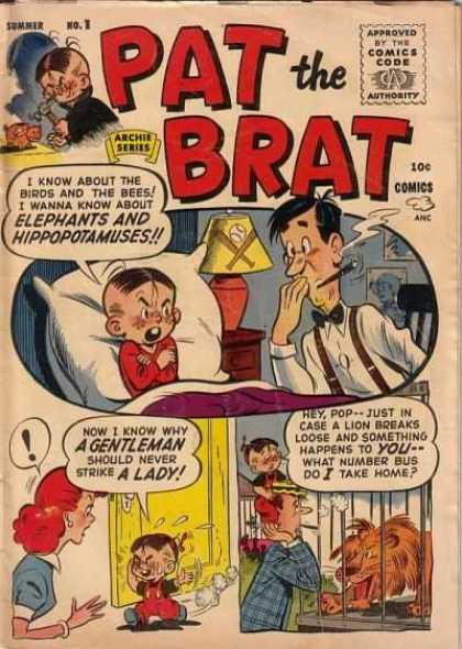 Pat the Brat 1 - Boy - Father - Mother - Cigar - Lion