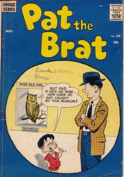 Pat the Brat 29 - Archie Series - No 29 - Wise Old Owl - November - Nov
