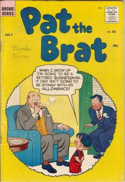 Pat the Brat 33 - Allowance - Businessmen - Cigar - Child - Boy