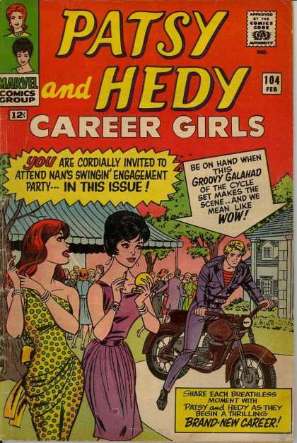 Patsy and Hedy 104 - Motorcycle - Engagement Party - Makeup - Trees - Polka Dot Dress