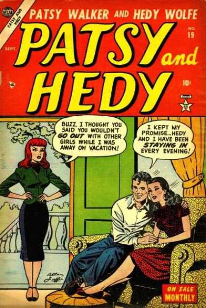 Patsy and Hedy 19 - Sept - Sofa - On Sale Monthly - Door - Go Out