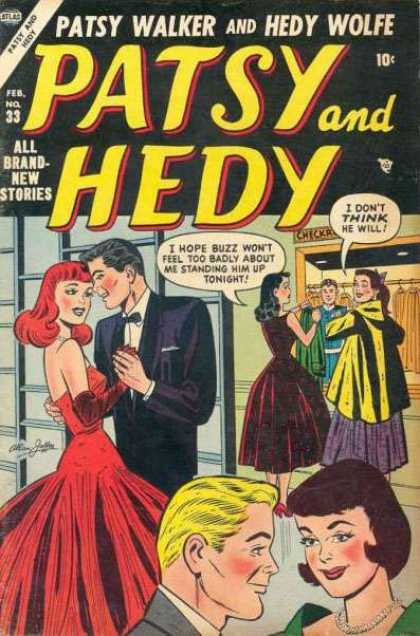 Patsy and Hedy 33 - Redhead - Couple - Dancing - February - Tuxedo