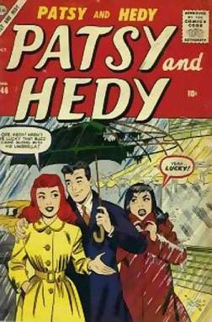 Patsy and Hedy 46 - Retro - Oldies - Women - Man - Ripped Umbrella