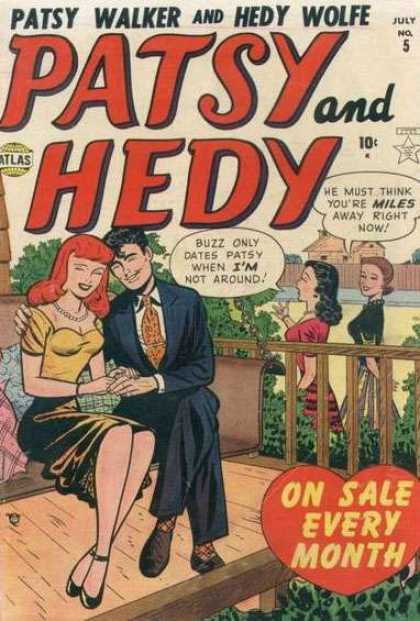 Patsy and Hedy 5 - Buzz - Girls - Porch - Swing - Romance